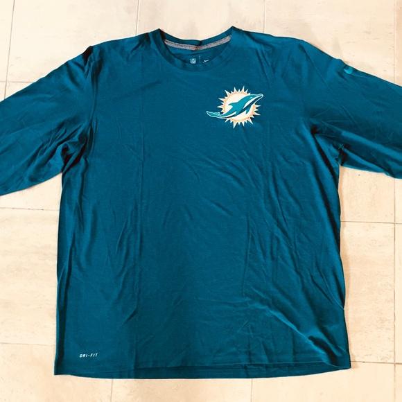 new product 5262d b5f43 Miami Dolphins NFL Pro Line Aqua Logo Primary L/S